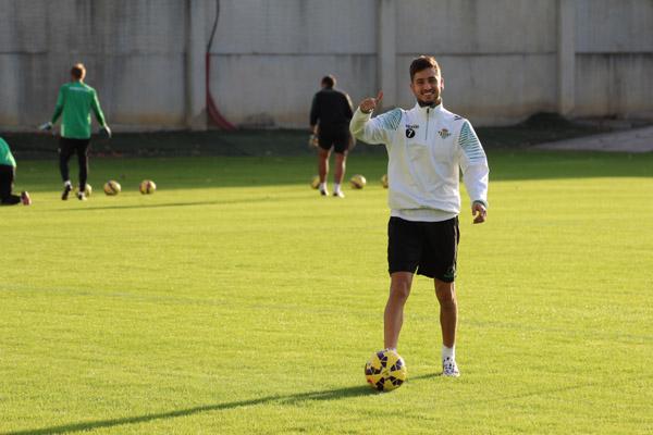 Álvaro Vadillo en la Ciudad Deportiva Luis del Sol. Foto: RBB.