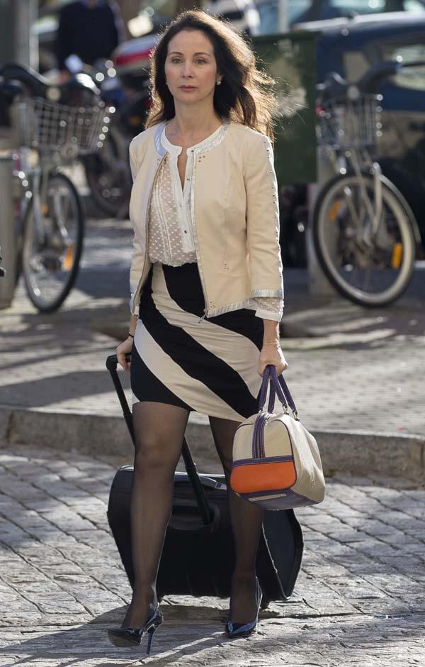 La jueza Mercedes Alaya a su llegada a los Juzgados de Sevilla.