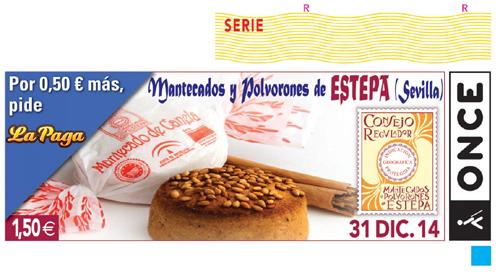 El último cupón de 2014 dedicado a los mantecados de Estepa.