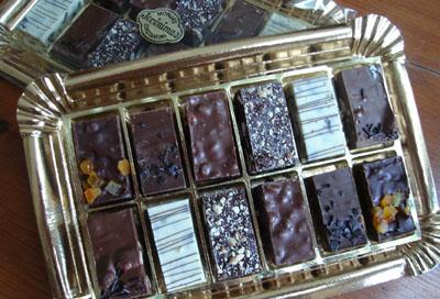 Las delicias de turrón de chocolate.