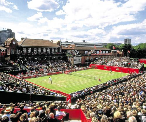 Pista central del torneo de Londres que se celebra en el barrio de Queen`s.