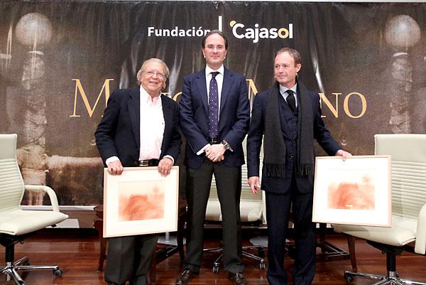 """""""Mano a mano"""" de la Fundación Cajasol entre el diestro Pepe Luis Vázquez y el cantaor Juan Peña """"El Lebrijano"""" . / EFE"""