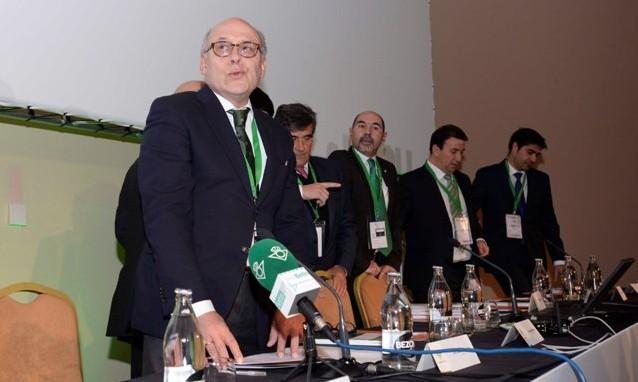 Juan Carlos Ollero, en la pasada junta de accionistas / Manuel Gómez