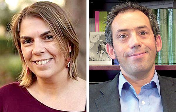Begoña Gutiérrez, licenciada en Derecho, y Joaquín Urías, profesor universitario. / El Correo