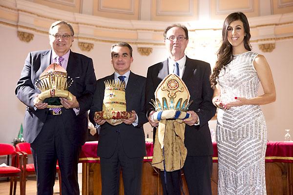 Eduardo Herrera Jiménez, Baltasar; Rafael Herrador Martínez, Gaspar; Víctor López García Aranda será Melchor; y Rocío Morera, Estrella de la Ilusión. / Pepo Herrera