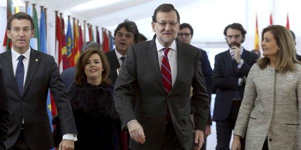 El presidente del Gobierno, Mariano Rajoy, a su llegada al acto institucional de conmemoración del 36 aniversario de la Constitución. / EFE