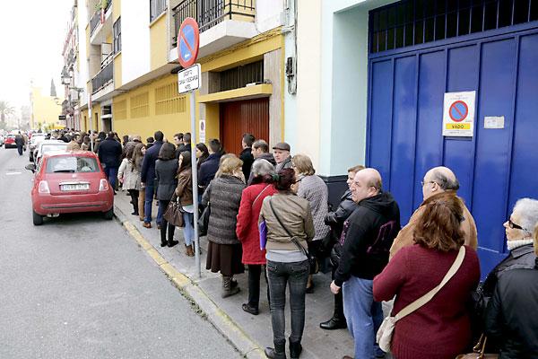 Besamanos de a Macarena. / Foto: José Luis Montero
