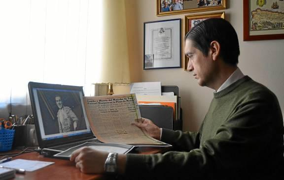 El autor ha manejado documentación y blibliografía de la época pero también ha contado con el testimonio de su familia. / Pedro Rodríguez de la Vega