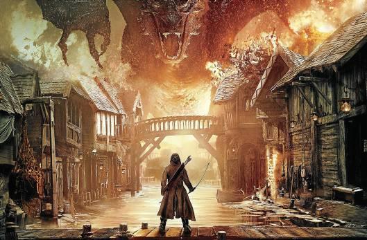 El terrible dragón Smaug tendrá su protagonismo en la primera parte de la película con la que acaba esta gran aventura. / El Correo