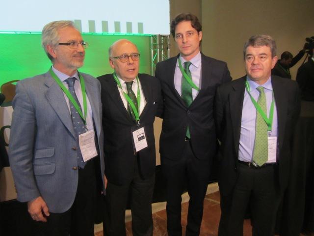 De izquierda a derecha: García Luna, Ollero, Fernández y Moreno.