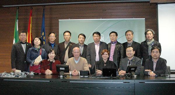 Las autoridades de la ciudad de Gwangju (Corea del Sur) han visitado la sede de Emergencias 112 Andalucía. / E.P.