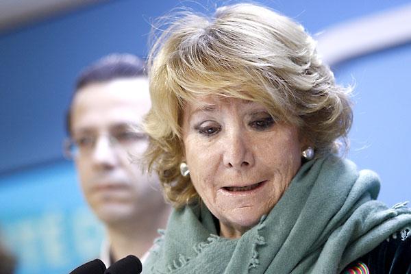 Esperanza Aguirre, presidenta del PP de Madrid. / EFE