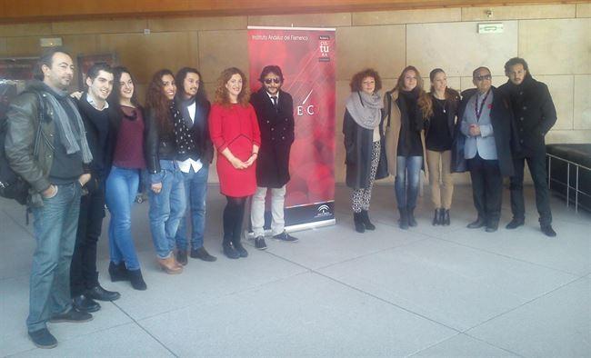 Presentación, esta mañana, de 'Flamenco viene del Sur'.