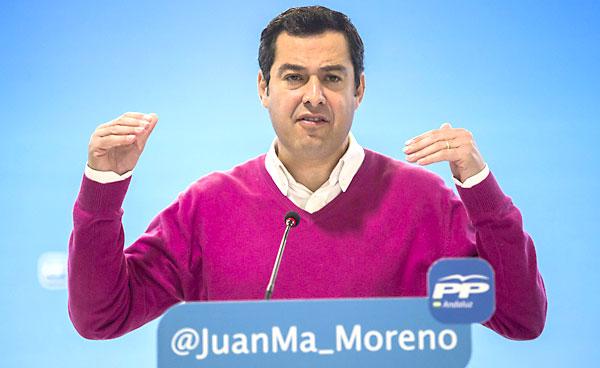El presidente del PP andaluz, Juan Manuel Moreno Bonilla. / EFE