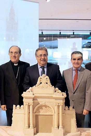Presentación de la exposición 'Puertas de Sevilla' en el Antiquarium. Foto Fernando Ruso / Ayuntamiento de Sevilla.
