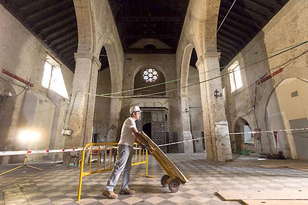 Trabajos de restauración de la iglesia de Santa Catalina. / José Luis Montero