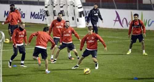 Entrenamiento del Sevilla en la ciudad deportiva. Foto: Inma Flores.