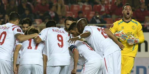 Encuentro de la Europa League entre el Sevilla y el Rijeka. Foto: Manuel Gómez.