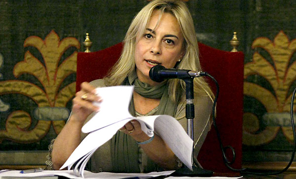 La habsta ahora alcaldesa de Alicante, Sonia Castedo. / EFE