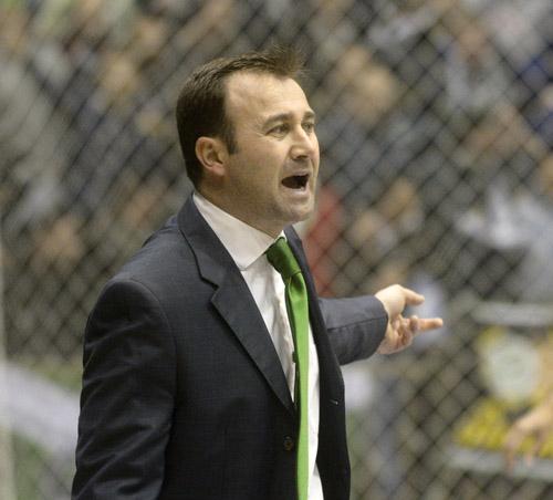 El entrenador del Betis FSN, José Vidal. Foto: Manu Gómez.