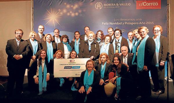 El coro parroquial Santa María de las Flores recibió el segundo premio.