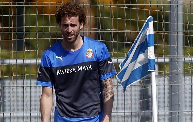 Cañas, jugador del Espanyol (EFE).