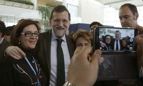 l presidente del Gobierno y del Partido Popular, Mariano Rajoy durante la Convención Nacional del PP. / EFE