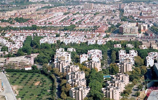 Vista aérea de Mairena del Aljarafe. / El Correo