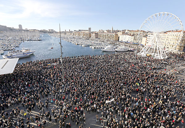 Manifestación de este sábado en Marsella. / EFE