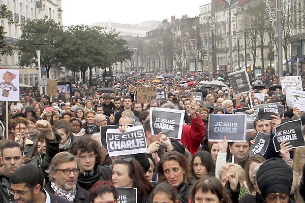 Manifestación en Nantes. / EFE
