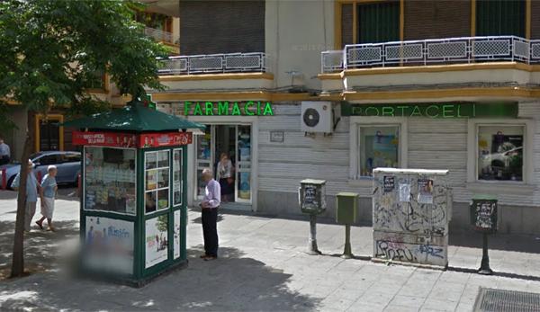 Una vista del quiosco que ha repartido 270.000 euros en el barrio de Nervión. / Google Street