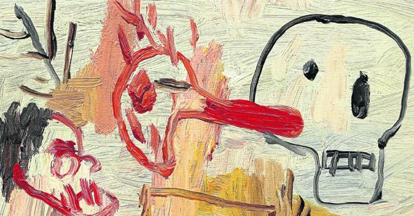 'Banda organizada', óleo sobre lino de Matías Sánchez, expuesto hasta finales de enero en la galería Cavecanem. / El Correo