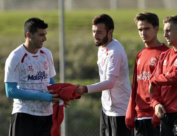 Reyes, Aleix, Denis y Deulofeu (Foto: Manuel Gómez)