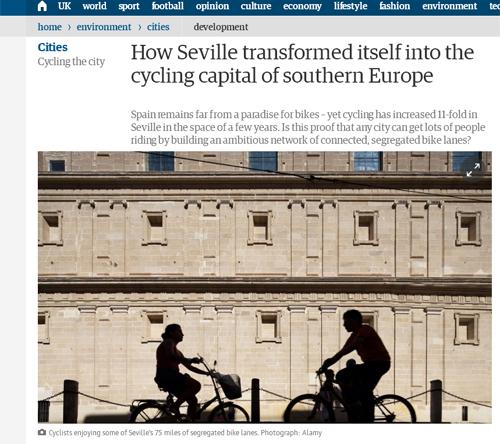 TheGuardian Sevilla ciclistas