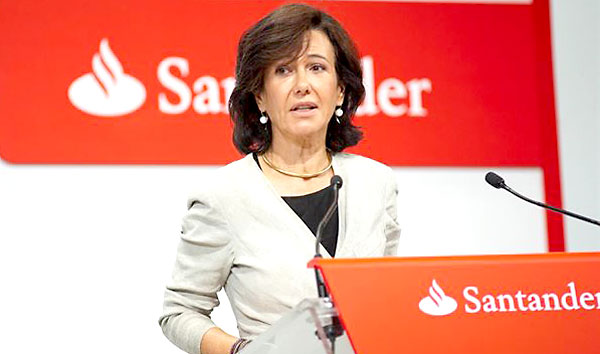 Ana Patricia Botín, presidenta del Santander. / EFE