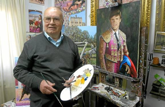 Tomares (Sevilla)  27/1/15  Pedro Escacena (Pintor)Foto: Rodriguez Aparicio