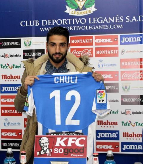 Chuli, en su presentación este miércoles por la tarde / CD Leganés