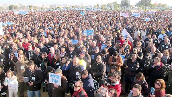 Masiva manifestación este jueves en Huelva. / E.P.