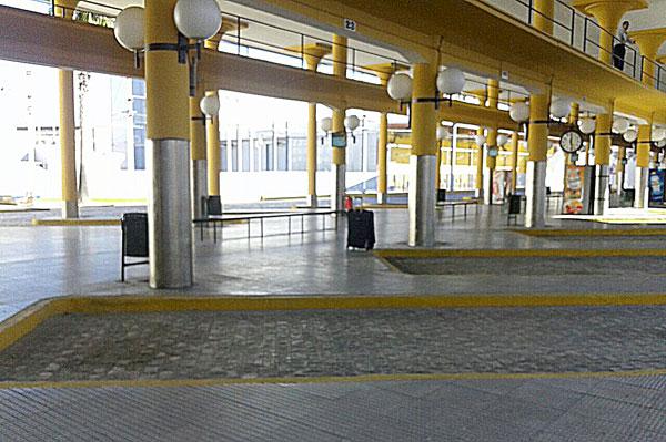Estación del Prado desalojada. / El Correo
