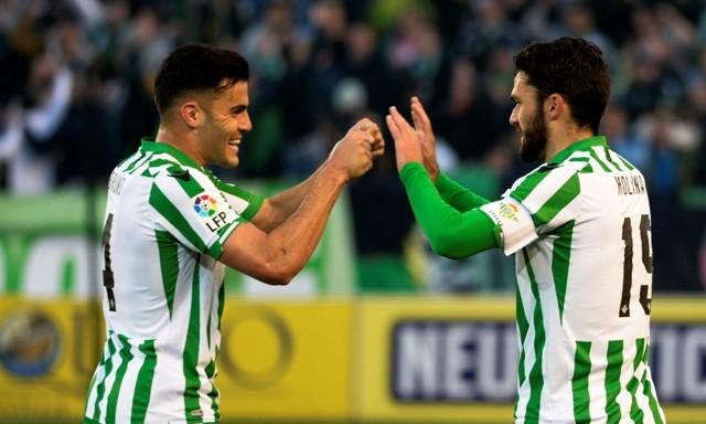 Bruno y Jorge Molina celebran el 2-0 ante el Sabadell / Foto: Manuel Gómez