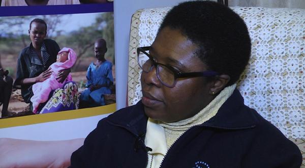 Paciencia Melgar, en un momento de la entrevista, en la casa de las madres concepcionistas en Morón de la Frontera. / El Correo