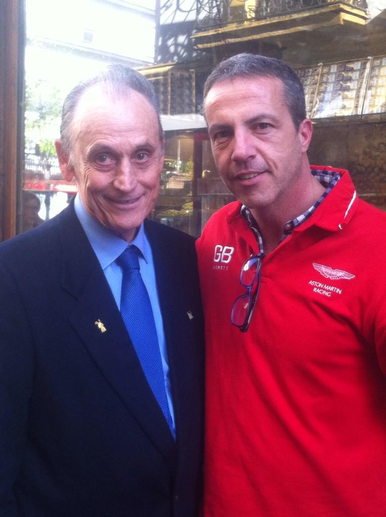 Manuel Ruiz de Lopera y Cristóbal Soria, este viernes en Sevilla / Foto:  @cristobalsoria