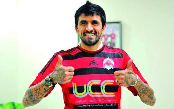 El argentino, feliz tras su fichaje por el Al-Rayyan.