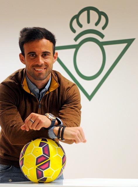 El lateral derecho, en la sala de prensa / Foto: Manuel Gómez