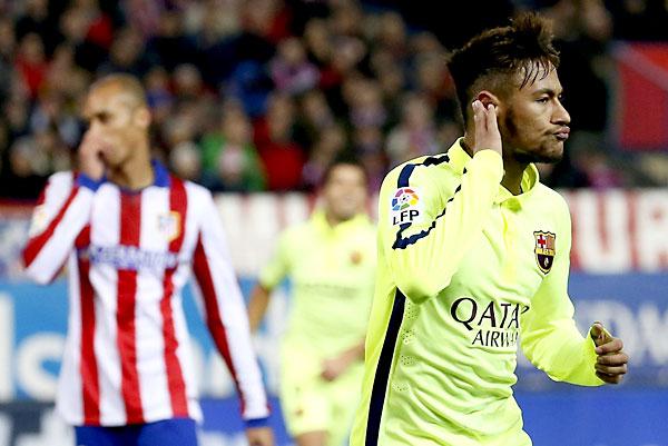 Neymar, protagonista del partido. / EFE