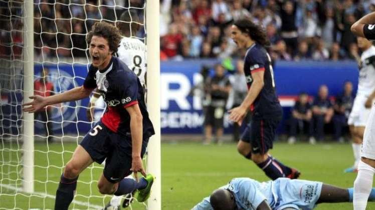 Rabit celebra un gol con el PSG.