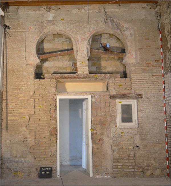 Los restos aparecidos en una de las casas del Patio de Banderas.