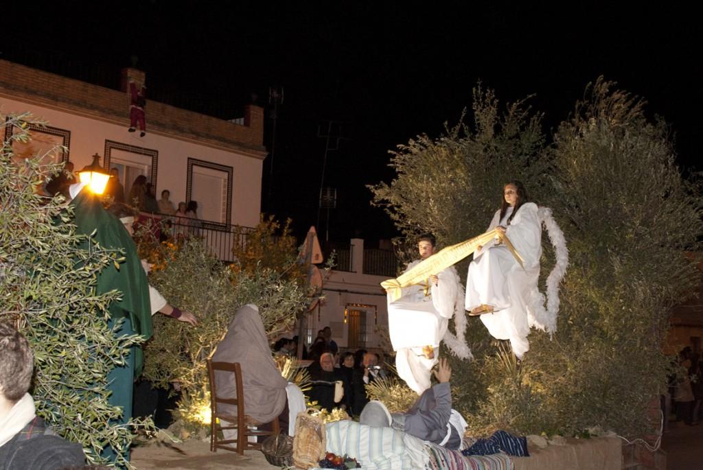 Representación de la anunciación a los pastores en Guillena. / F. J. D.