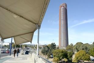Imagen que presentaba ayer el rascacielos diseñado por el arquitecto César Pelli. / Manuel Gómez