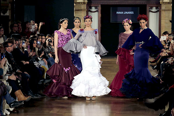 Desfile de Inmaculada Linares, ganadora. We Love Flamenco. Finalistas del Concurso de Diseñadores Noveles de Moda Flamenca. / Foto: José Luis Montero
